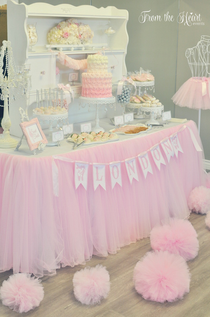 Pink Color Table Tutu Skirt Tulle Soft Sweet Birthday Party Decorations For Wedding Can Be Customized