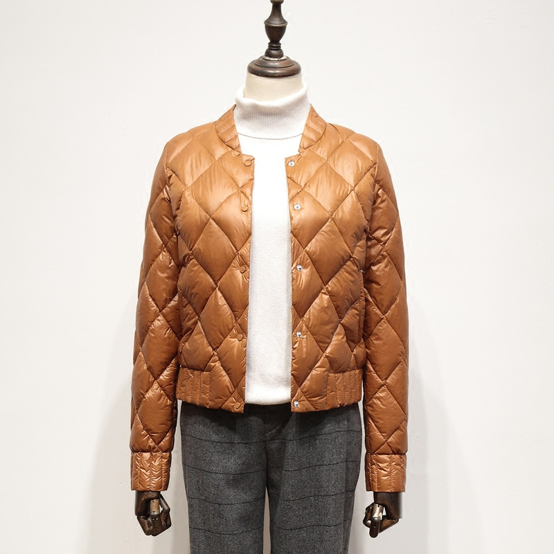 Fitaylor Ultra Light White Duck Down Jackets Autumn Winter Women Plus Size 3XL O Neck Coat Slim Short Warm Down Coats
