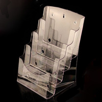 A4 4 Layer Half Page Brochure Holder Book Data File Holder Display Rack Acrylic Data File