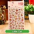 SST * 1 Лист 'Маленькая Кошка Мультфильм Детские Игрушки 3D Наклейки DIY Каваи Дневник Украшения Скрапбукинга детский сад Канцелярские мило +
