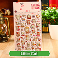 SST* 1 Sheet ' Little Cat ' Cartoon Kids Toys 3D Sticker DIY Kawaii Diary Decoration Scrapbooking kindergarten Stationery Cute+