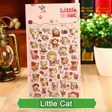 SST 1 Sheet Little Cat Cartoon Kids Toys 3D Sticker DIY Kawaii Diary Decoration Scrapbooking kindergarten