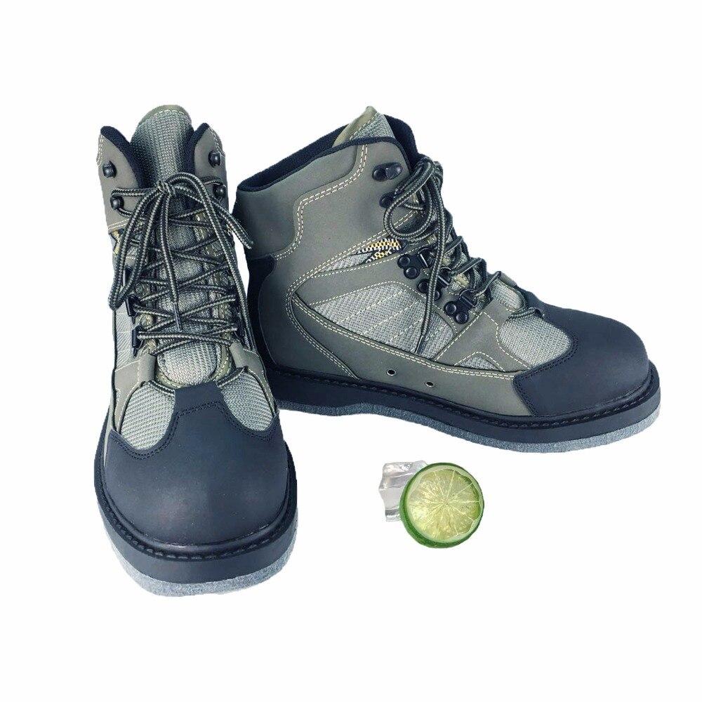 Aqua Chaussures de Pêche À La Mouche Chaussures Respirant Rock Chaussures de Wading Feutre/semelle En Caoutchouc bottes à séchage rapide antidérapant Randonnée En Plein Air Chasse 01