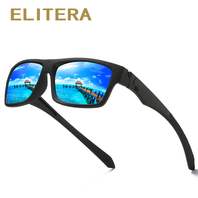 c14e4d4630d ELITERA Brand Design Classic Polarized Sunglasses Men Women Driving Square  Frame Sun Glasses Male Goggle UV400