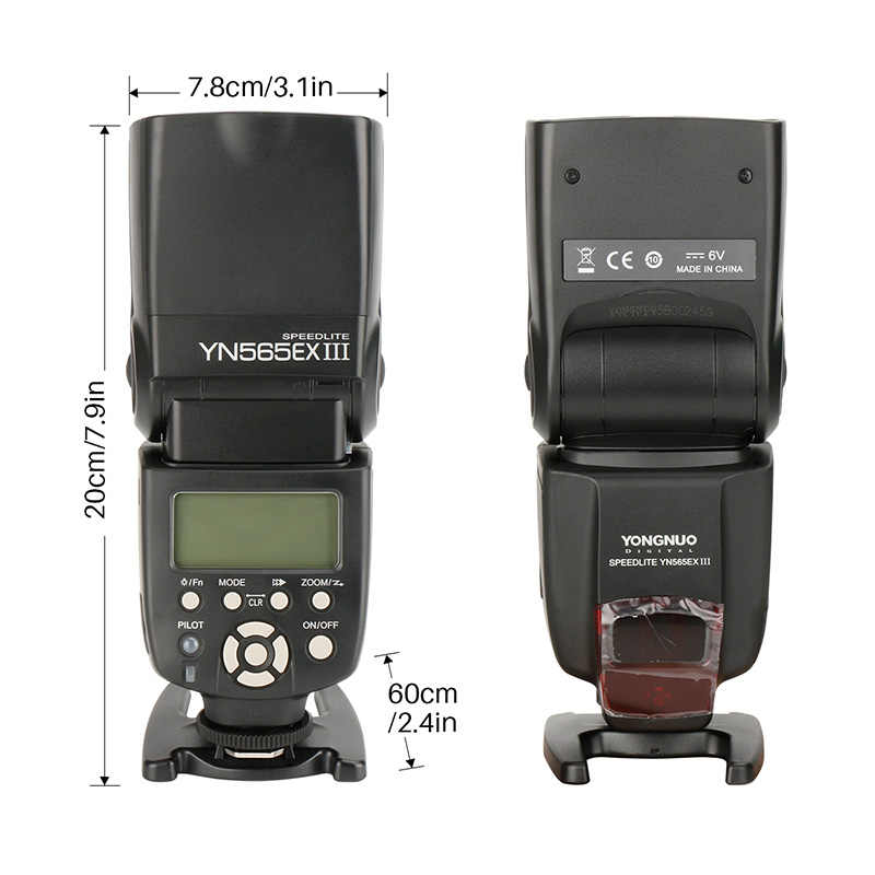 永諾 YN565EX III ワイヤレス Ttl スレーブ発光スピード一眼レフカメラ用スピードライト GN58 高速リサイクルシステム