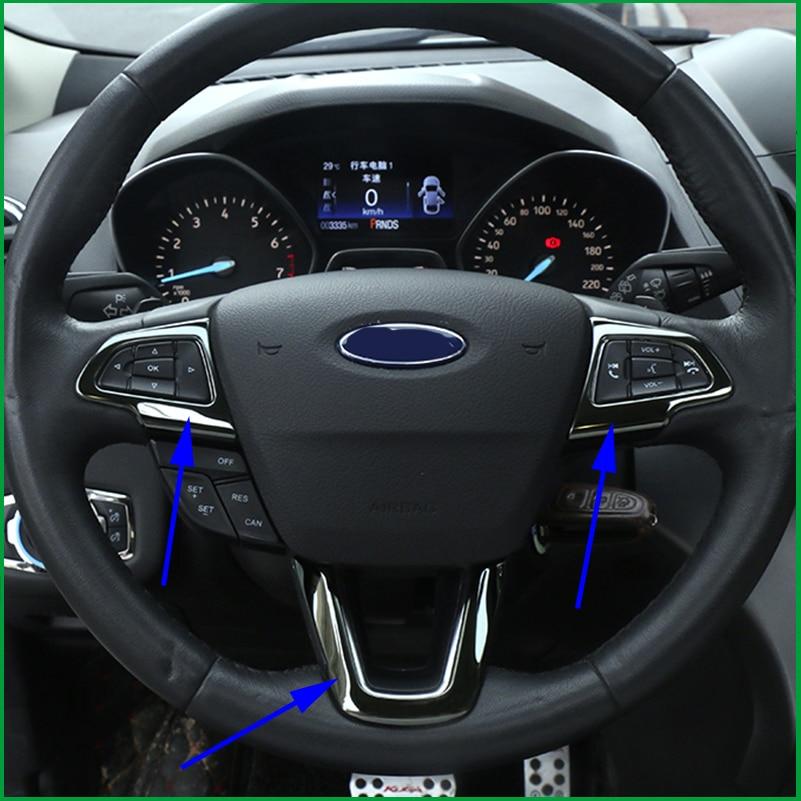Steering wheel trim decal sequins cover trim interior - Ford escape interior accessories ...