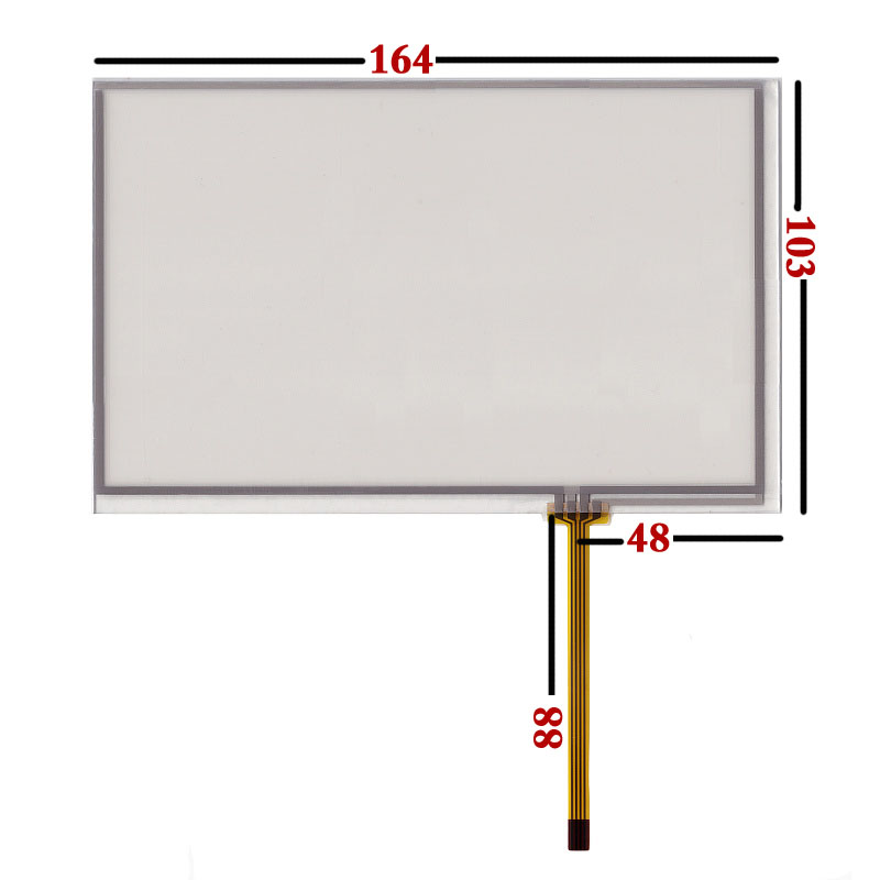 5pcs/lot <font><b>AT070TN83</b></font> <font><b>v</b></font>.<font><b>1</b></font> 7 inch Original New 164*103mm Resistance Handwriting Screen Touch Screen Digitizer Panel image