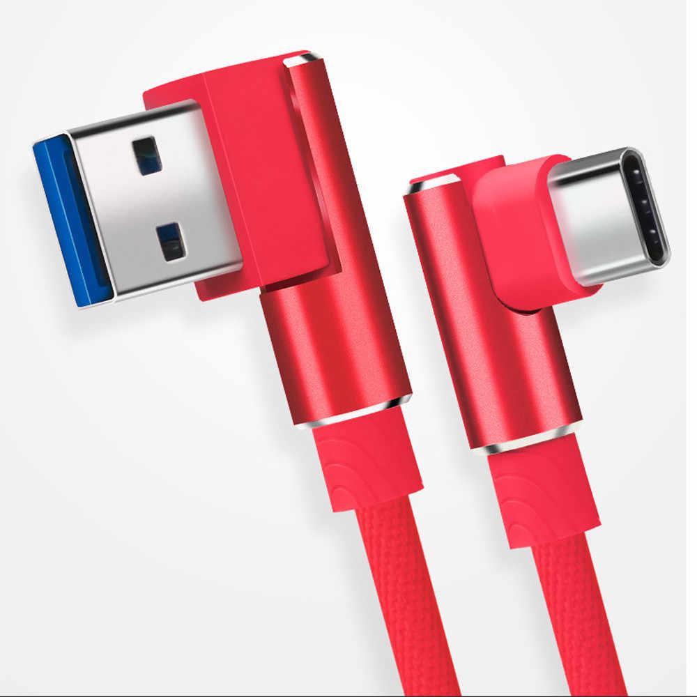 2019 синхронизация быстрое зарядное устройство кабель под прямым углом Магнитный кабель USB-C данных типа C для быстрой зарядки samsung 1 м с жилами из чистой меди # LR3