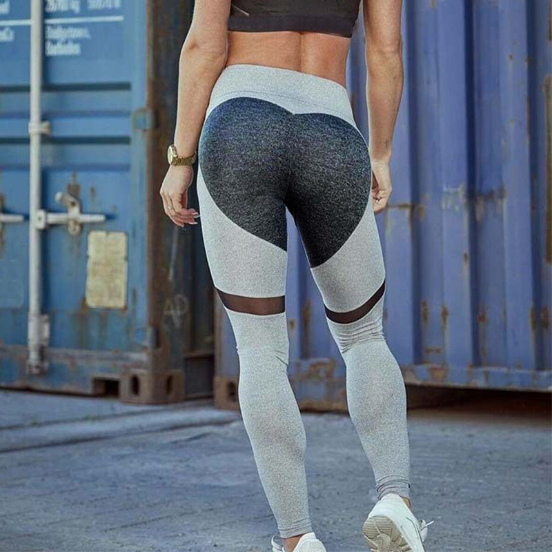 ZELLY New Fashion Heart Shaped Sporting Leggings Women Fitness Pants Sexy Bodybuilding Workout Leggings Push Up Gyming Leggings