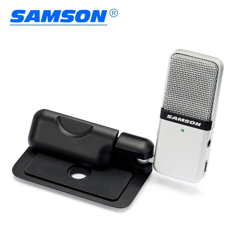 US $32 77 21% OFF|Samson Go Mic portable USB condenser microphone Plug and  Play Compatible with a Mac or PC Recording Music Podcasting-in Microphones