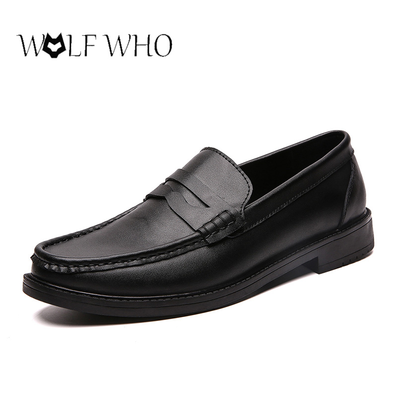 Men Formal Shoes Genuine Leather Loafers Soft Mocassin Homme Chaussure High Quality Dress Driving Boat Flats Shoes Gommino