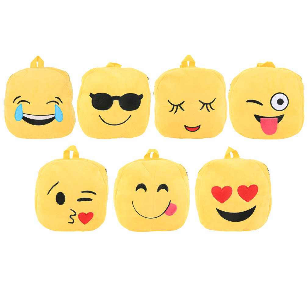 Cartoon Kids Mini Schoolbag Funny Face Expression Students Boy Girl Backpack Sale