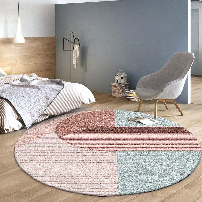 Tapis ronds chambre nordique chevet tapis ronds maison décorative salon tapis chambre enfants Table basse tapis enfant tapis de sol