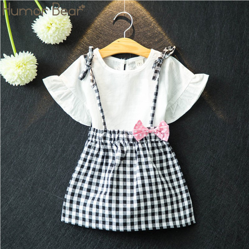 Humor Bear New Brand Girls Clothing Set Kids Clothes Summer Bowknot Pattern Toddler Girl Tops+Skirt 2PCS Suit baby girl clothesHumor Bear New Brand Girls Clothing Set Kids Clothes Summer Bowknot Pattern Toddler Girl Tops+Skirt 2PCS Suit baby girl clothes