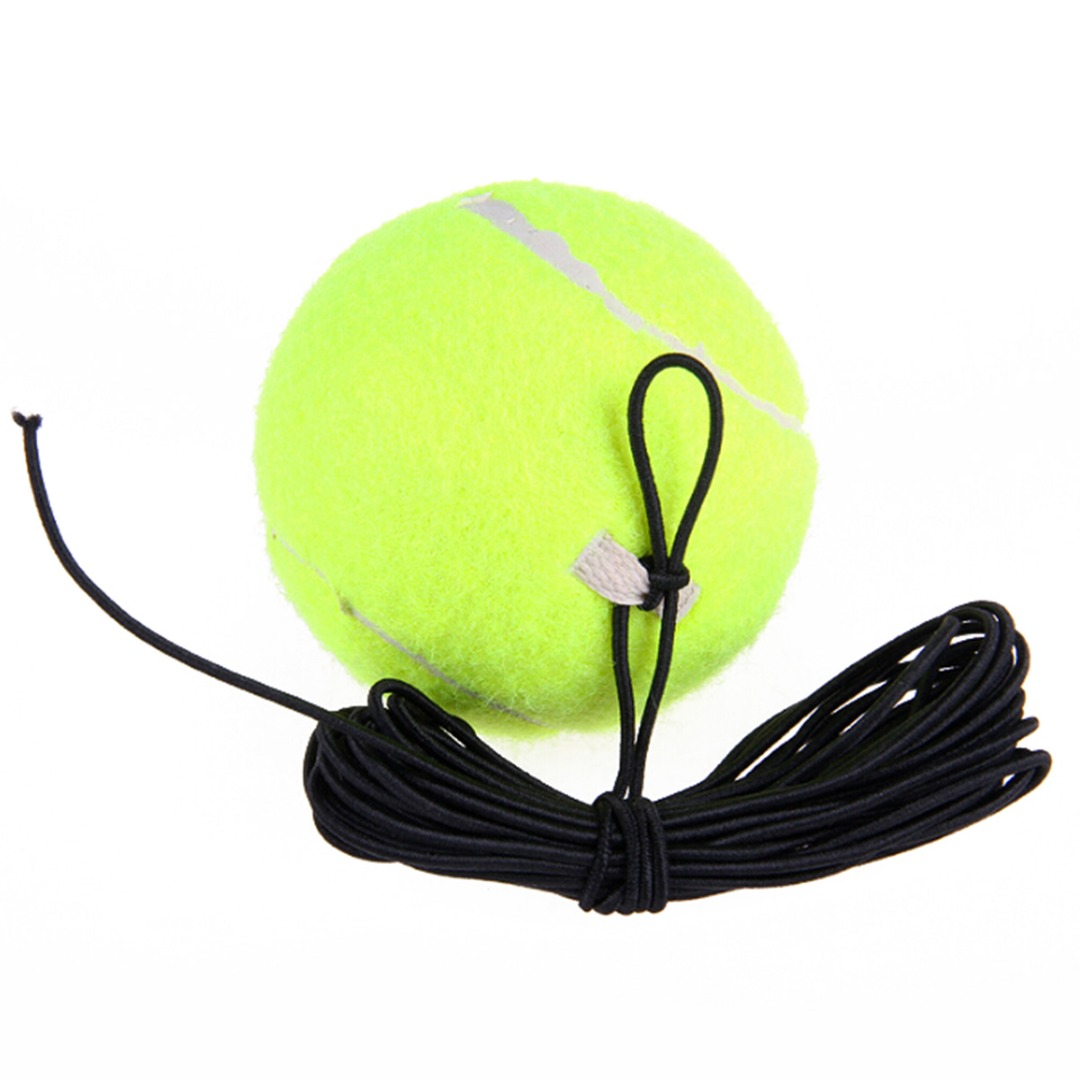 Drill Tennis Trainer Elasticity Rubber Woolen Trainer Tennis Ball With String For Single Package Practice Training все цены