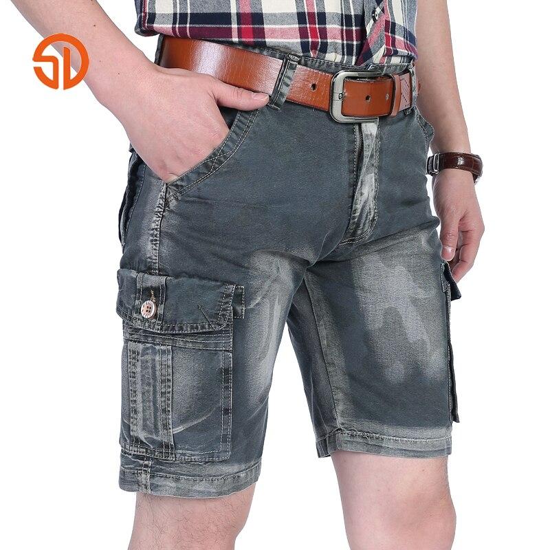 Fashion Cotton Cargo Men Shorts Camouflage Plaid Print Loose Casual Mans Short Bermuda Trousers Bottoms Plus Size 30-40 No Belt