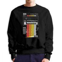 Men 808 Classix Vaporwave Hoodie Funny Sweatshirts Pure Cotton Graphic Pullover for Men
