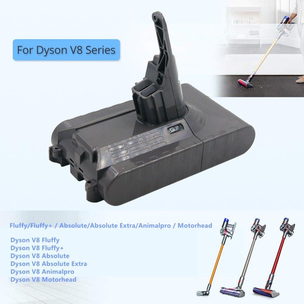 Batterie de rechange 21.6 V 3500 mAh pour Dyson V8 Animal V8 Absolue aspirateur Outils batterie au lithium