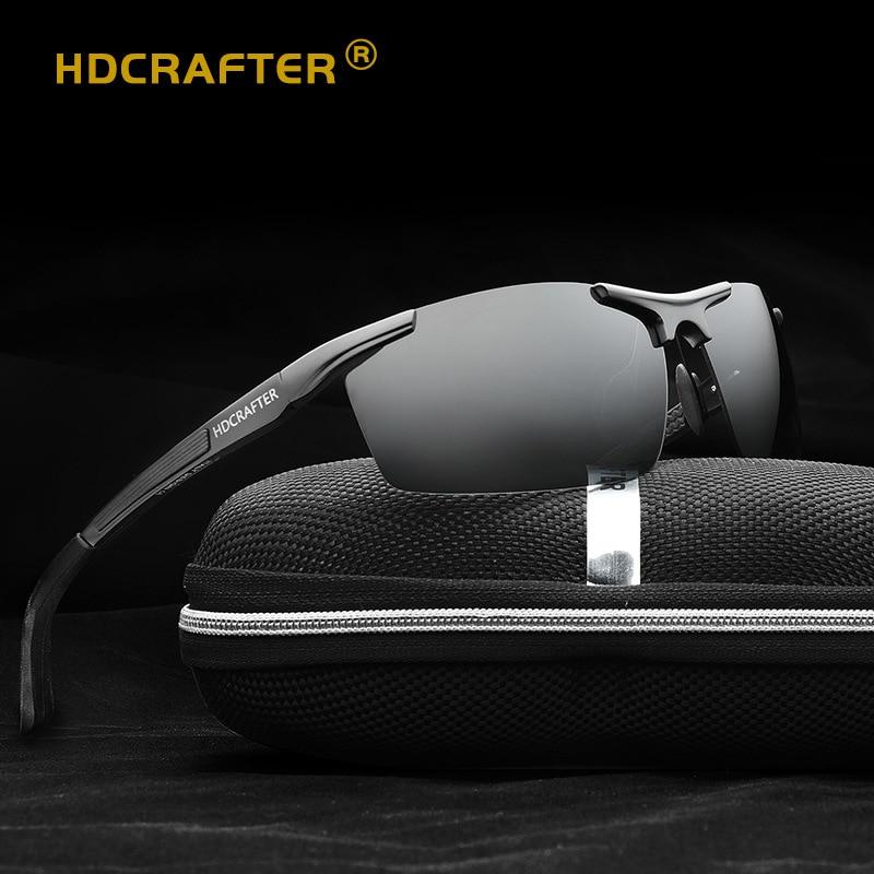 Sportovní sluneční brýle pro muže Polarizované sluneční brýle Hliníkové HD hnací brýle Mužské UV400 brýle noční vidění brýle Oculos