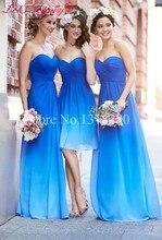 WDZ-193 Royal Blue Simple Cheap Robe Bleu Roi Bridesmaid Dress Colorful Formal Dresses For Wedding Party Sleeveless