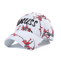 MTTZSYLHH Female baseball cap embroidery couple embroidery plum baseball cap travel outdoor sports youth cap