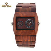 Fashion 2017 Hot Sell Red Sandal Wood Watches Vintage Watches Ladies Quartz Watch Women Casual Wood