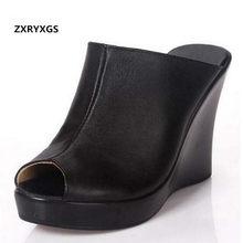 48bf3f10c ZXRYXGS marca sandálias chinelos de verão das sandálias das mulheres sapatos  2018 Novas sandálias de couro