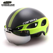 Men Women Safety Cycling Helmet Ultralight Intergrally-molded Bicycle Helmet With Lens Double Layers Mountain Bike Helmet
