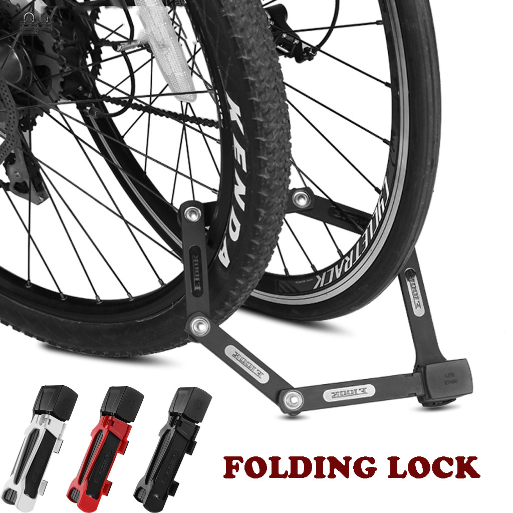 Etook serrure vélo acier pliable serrure 2 clés 4.11mm 750mm noir neuf