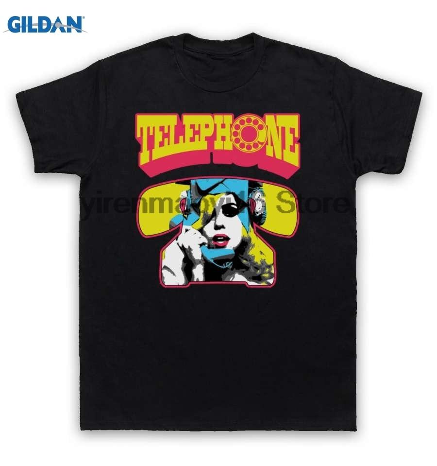 GILDAN cotton O-neck printing fashion T shirt Lady Gaga T Shirt Telephone Beyonce Knowles
