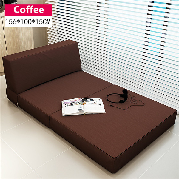 Folding Mattress and Sofa Bed with Removable Cover Bedroom Furniture Sleeping Futon Bed Japanese Style Floor Sofa Daybed Chaise