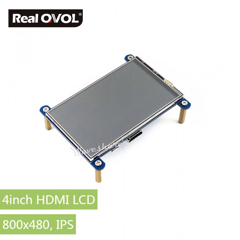 RealQvol 4inch HDMI LCD Resistive Touch Screen, HDMI interface, IPS Screen, Designed for Raspberry Pi 800x480 high resolution 15 4inch 4 wire resistive touch panel for 15 4inch 1280x800 1400x800 lcd screen
