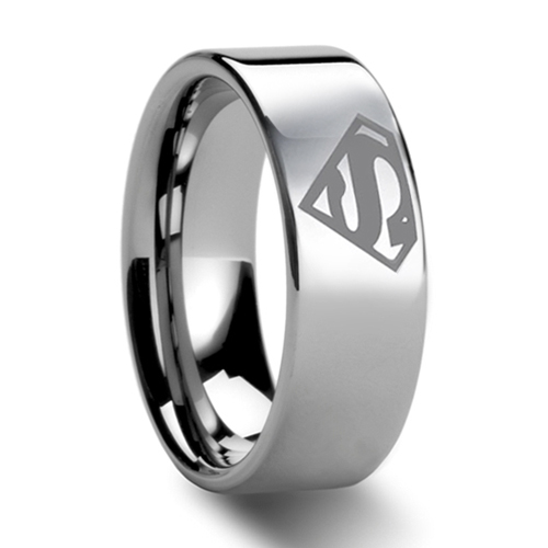 8mm bridal mens superman tungsten engagement ring ceremony wedding band nr04mchina - Superman Wedding Ring