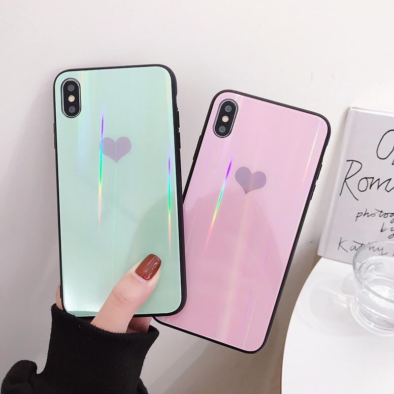 Laser Love Heart Tempered Glass Case For Huawei P20 Lite P30 Pro Cover Honor 9 10 V9 V10 Mate 20 PRO Nova 2S 3 3i 4 Y9 2019