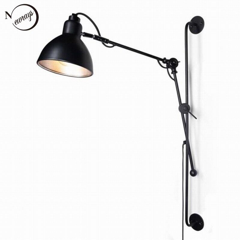 nouvelle rplique designer rglable antique moderne industriellebras oscillant long mur lampe lumires pour salle - Appliques Vintage Industrielles Pour Salle De Bain