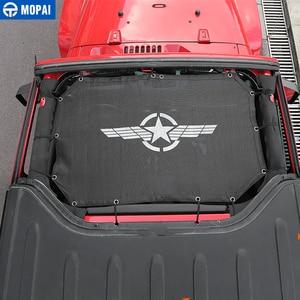 Image 3 - MOPAI 2 Porta Car Top Parasole Tetto di Copertura Anti UV Del Sole Ombra Rete di Protezione Netto Accessori Per Jeep Wrangler 2007 2017 Car Styling