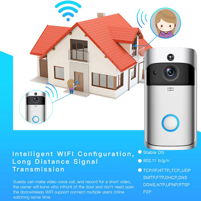Doorbell Camera Smart Wi-Fi Video Intercom Door Bell