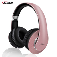 AlWUP High Quality Wireless Bluetooth Headphones For Girls Support Radio Mp3 Player With Microphone 12 Hours