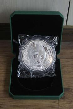TOP limited edition collection # Large size -- CHINA  National treasure panda 1 KG silver Commemorative Medal