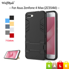 WolfRule For Cover Asus Zenfone 4 Max ZC554KL Case TPU & PC Stand Phone Case For Asus Zenfone 4 Max ZC554KL Cover 5.5 inch цена