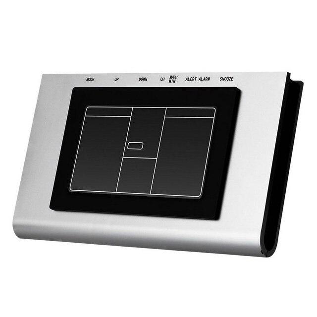 1 st ck lcd digital temperatur tester 433 mhz funkwetterstation temp alarm clock thermometer. Black Bedroom Furniture Sets. Home Design Ideas