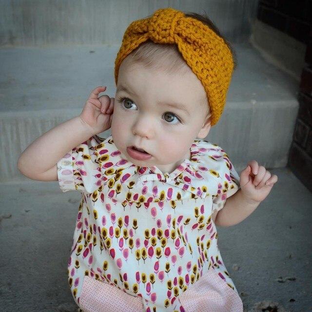 Venta caliente invierno knit crochet turbante cabeza de pelo bandas ...