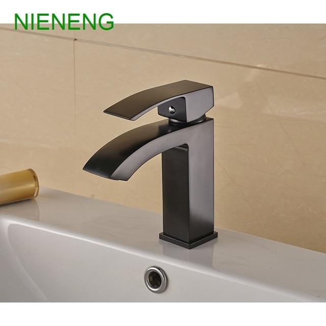 NIENENG big sale bathroom basin faucet copper black plated mixers ...