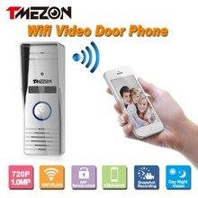 Tmezon hd 720 p 1.0mp sterowanie telefon bezprzewodowy wifi inteligentny telefon drzwi wideo domofon domofon zewnętrzna kamera ip system dooebell