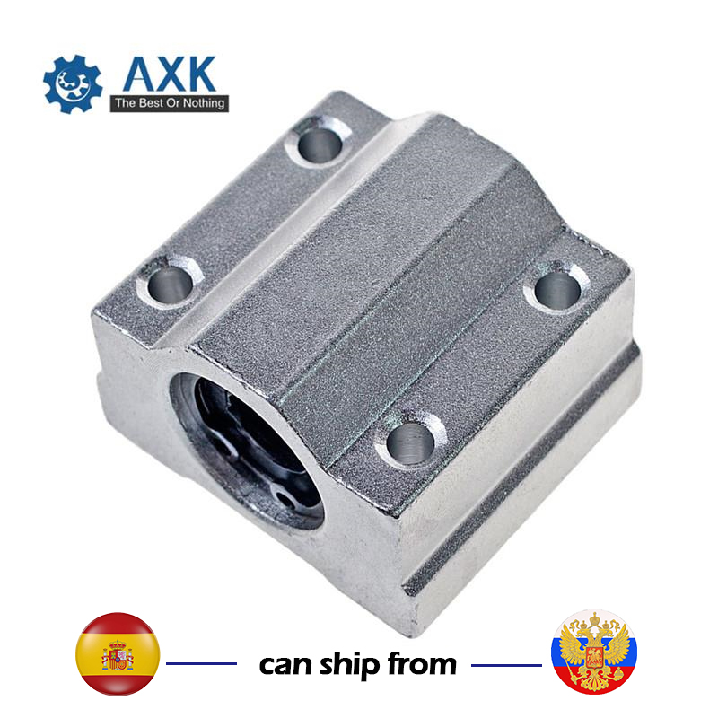1x SCS20LUU 20mm Industrial Linear Motion Ball Bearing Slide Unit Bushing Silver