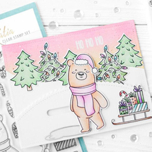 Naifumodo Bear Snow World Stamps and Dies Metal Cutting for Scrapbooking New 2019 Craft Die Clear Stamp Cuts Card