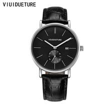 Наручные часы для Мужчин Кварцевые часы Часы Мужчины Черный Кожаный Часы Мужчины Часы Класса Люкс Известная Марка Кварцевые Часы Relogio Masculino