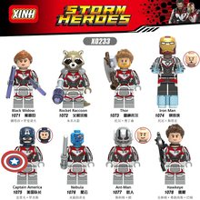 Vingadores Thor 4 Endgame Mini e percebi que Thanos Rocket Raccoon Máquina de Guerra Black Widow Nebulosa Building Blocks Brinquedos X0233(China)