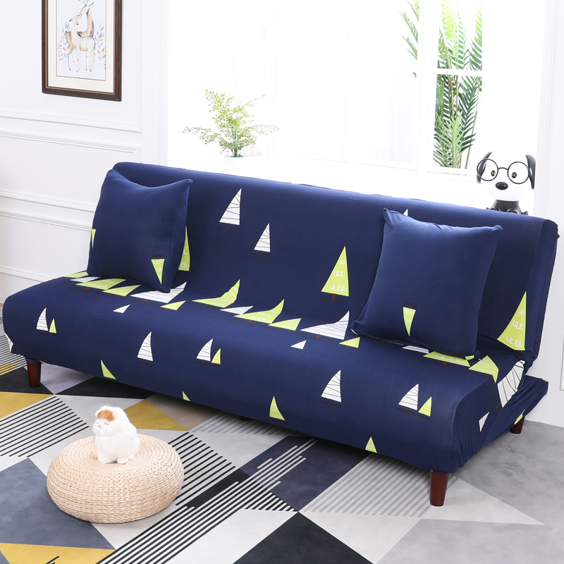 All inclusive Deep Blue Elastic Sofa Bed Covers For Living ...