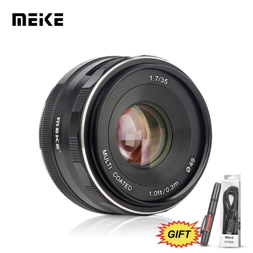 MEKE 35mm f/1.7 Manual Focus Fixed Lens for Sony E Mount Cameras NEX3/3N/5/5T/5R/5N/NEX 6/7/A5000/A5100/A6000/A6300/A6500